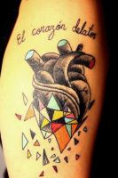 Corazon delator by blackcrowntattoo