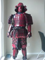 Red Samurai Armour 5 by Tulloran