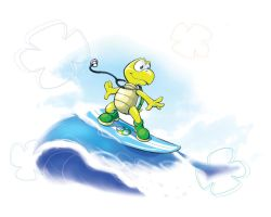 Surfer Koopa by ZeroMayhem