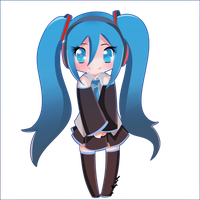 Hatsune miku chibi by the-electric-mage