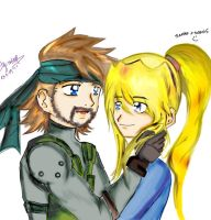 snake and samus by Caito-Pescaito