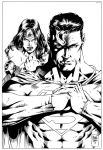 Wonder Woman and Superman Inks - M.Abreu. by JDB-Inks