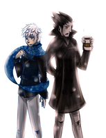 Jack and Pitch in Peacoats by FrostyOreos