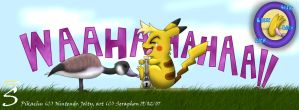 Poor Jolty. Pikachu tickle. by Seraphon
