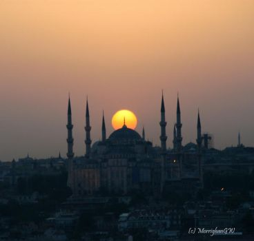 Blue Mosque at Sunset by MorrighanGW