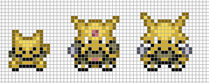 Mini: Abra, Kadabra, Alakazam by Hama-Girl