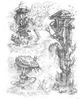 Tower Sketches by MIKECORRIERO