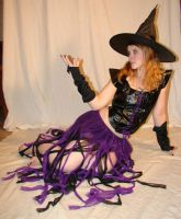 Jodi Purple Halloween Witch 01 by FantasyStock