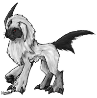 Absol Randomony by FishBatDragonThing