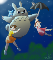 My Neighbor Totoro by ToLoveaKiwi