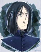 Snape Portrait by Angel-soma