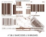 PHOTOSHOP BRUSHES : barcodes by darkmercy