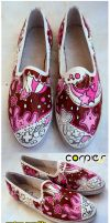 browny pink shoes by JONY-CAKEP