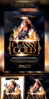 Classy And Gold Free Flyer Template by WGVISUALARTS