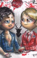 Hannibal chibis - Will and Hannibal by FuriarossaAndMimma