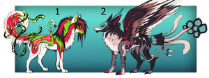 Canines adopt auction CLOSED by creepyzcat