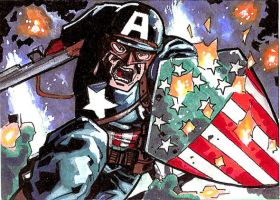 Cap WW2 Sketch Card by Sigint