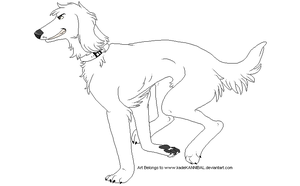 Saluki Lineart : FREE USE by kadeKANNIBAL