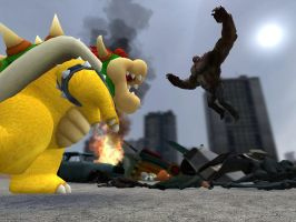 Bowser Vs The Tank by GlitchyProductions
