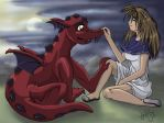 A girl and her dragon number 2 by jinubean