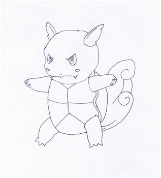 Wartortle Pen Sketch by AAurion