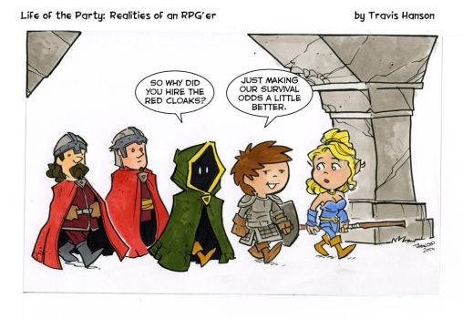 Red cloaks/red shirts.... same thing RPG Comic by travisJhanson