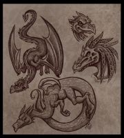 more dragons by Harpyqueen