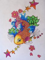koi fish tattoo design by starlitefairy24