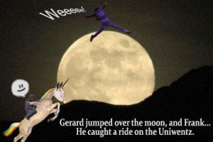 Gerard jumped over the moon by SaintPancake