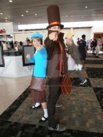 Prof. Layton and Luke Cosplay2 by Noctuart