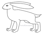 FREE Hare/Rabbit Lineart (MS Paint Friendly!) by unishamaani