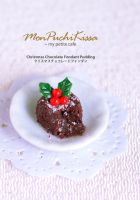 Christmas Chocolate Fondant Pudding by monpuchikissa