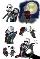 Jack and Sally doodles by Piddies0709