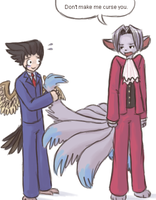 Pokemorphed Wright n Edgeworth by shadowkitsunekirby