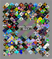 Pixelation Quilt: Retro Gaming by -black-eye-