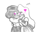 Ruby and Sapphire - sketch by IceBreak23