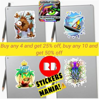 Stickers Mania!  by Bluedarkat