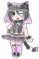 Pastel goth cat girl adoptable by carcarchu