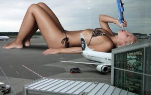 Jenni Toying With Airliner by JRGTS