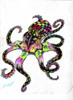 neon octopus by King-Kandie