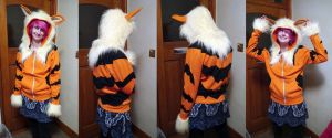 Arcanine Hoodie by TrafficConeCreations