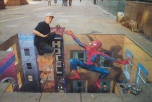 3D Chalk Drawing 5 by ABCalex