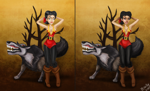 Gaston old and new by blastedgoose