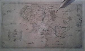 Middle Earth Map craft by Sylfeanne