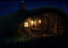 in a hole in the ground, there lived a hobbit.. by LaurineSurdon