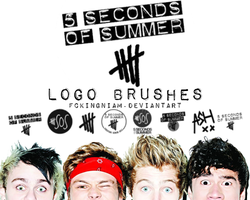 5 Seconds of Summer Logo Brushes by fckingniam