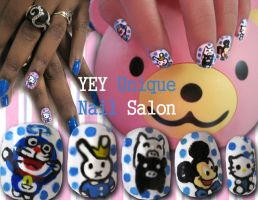 Cartoon nail 2 by YEYUniqueNail