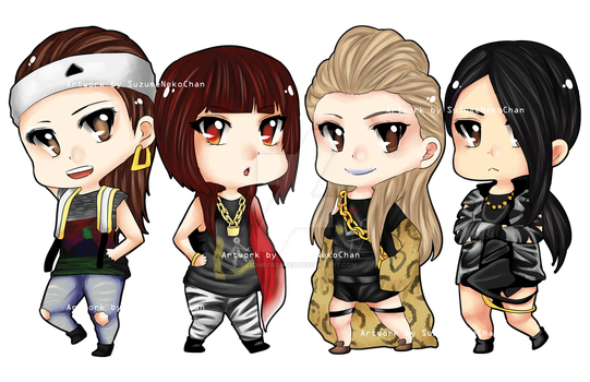 Chibi 2NE1 'Crush' by suzumecreates
