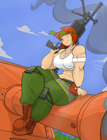 Sami rocking her guns by Commoddity