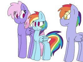 Rainbow Dashes Family by S-K-Y-L-I